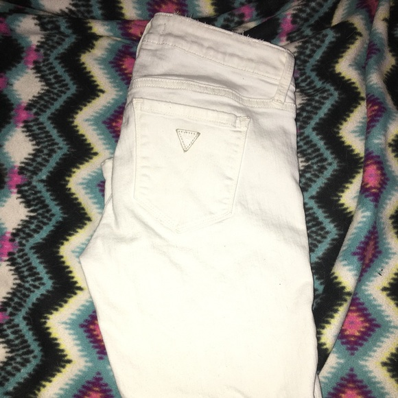 Guess Denim - White Guess ripped look jeans